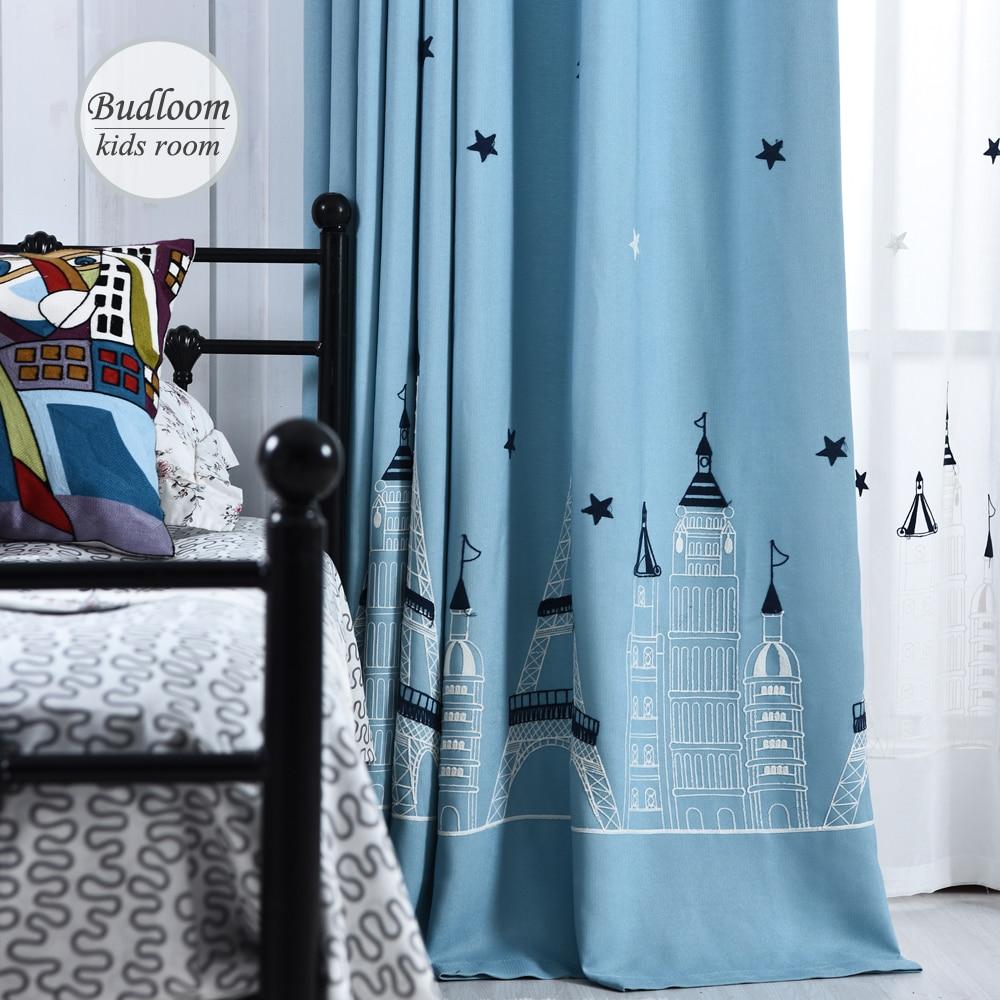 Online kopen wholesale blauw baby gordijnen uit china blauw baby ...