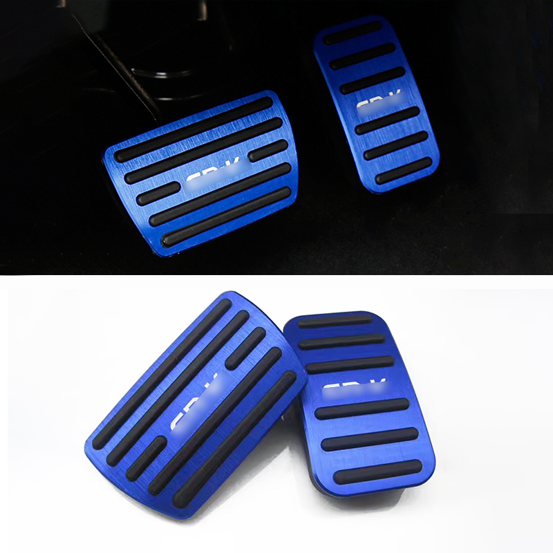 AT Car Accelerator Brake Pedal for HONDA CR V Gas Pedal Foot Cover Pad Aluminum Alloy Interior Parts Decoration Left Hand Drive in Pedals from Automobiles Motorcycles