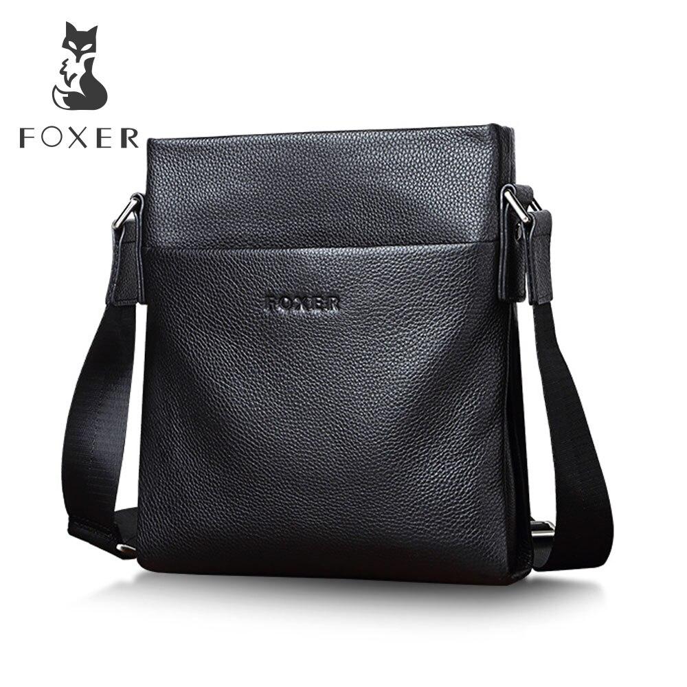 FOXER Genuine Leather Men s Business Shoulder Bag Casual Cowhide Crossbody Bags For men