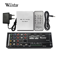 Wiistar Digital Multi-Functional HDMI Converter with 8 Inputs to 1 HDMI Output ( VGA+AV+Ypbpr Component + HDMI) to 1 hdmi out