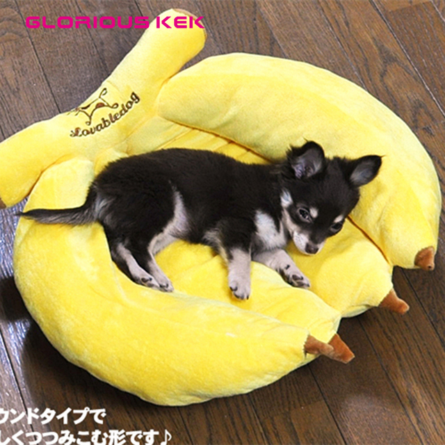 New Fancy Banana Dog Beds For Small Dogs And Cats Brand Plush Warm Dog Beds Cute