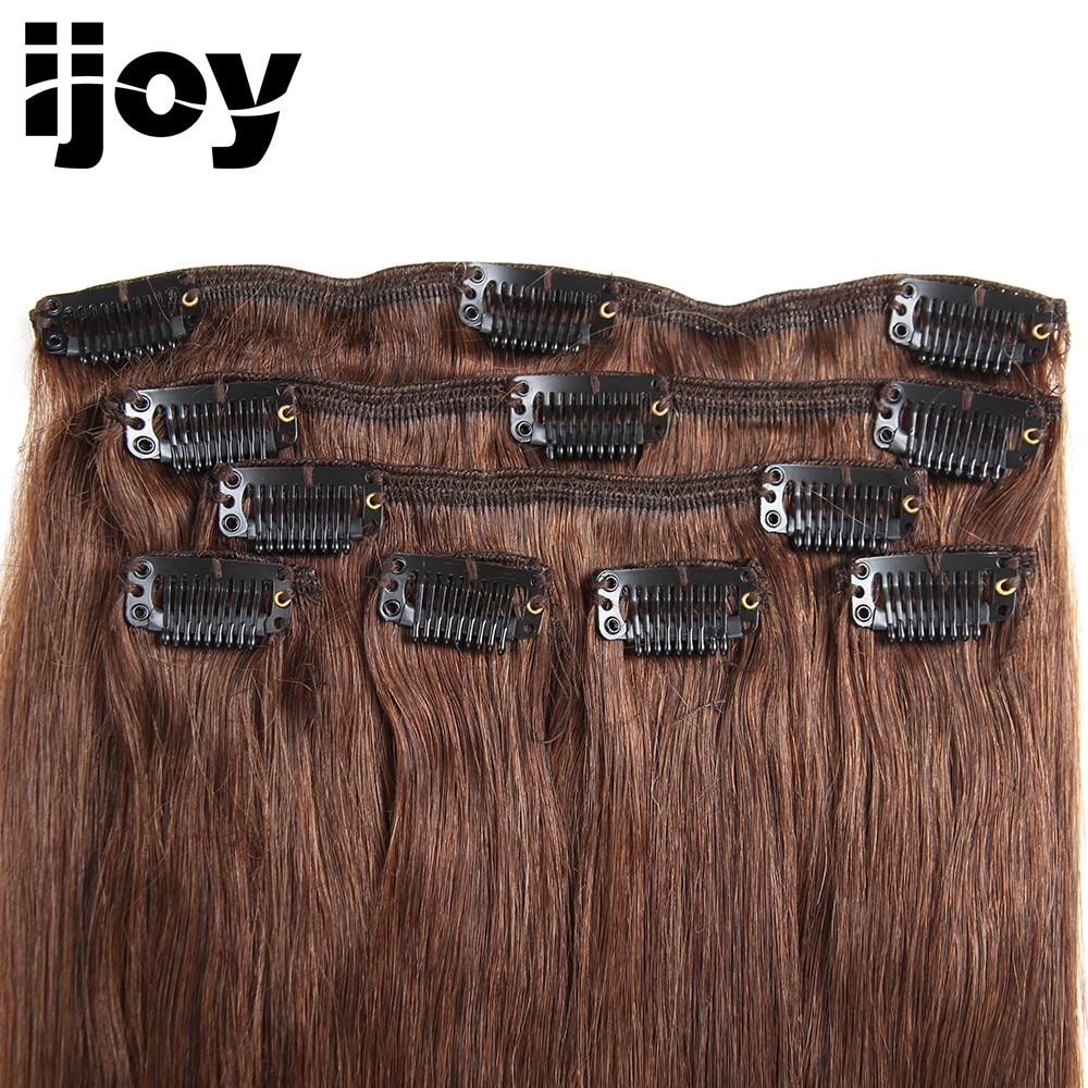 LABA MATIEM Straight Brazīlijas 100% Virgin Hair Clip cilvēka matu - Cilvēka mati (baltajiem) - Foto 2