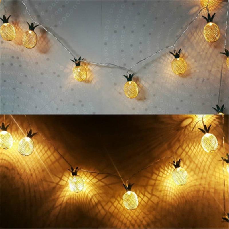 Lantern Waterproof LED Retro Bronze Pineapple Lights Night Christmas Party Lights Living Room Bedroom Decoration Special Lamp
