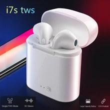 i7s TWS Wireless Bluetooth Earphone In-ear Stereo Earbud Headset With Charging Box For iPhone x xs max Xiaomi huawei Samsung s10 i7s tws mini wireless bluetooth earphone in ear stereo earbuds music sport headset for iphone xs samsung s9 xiaomi huawei