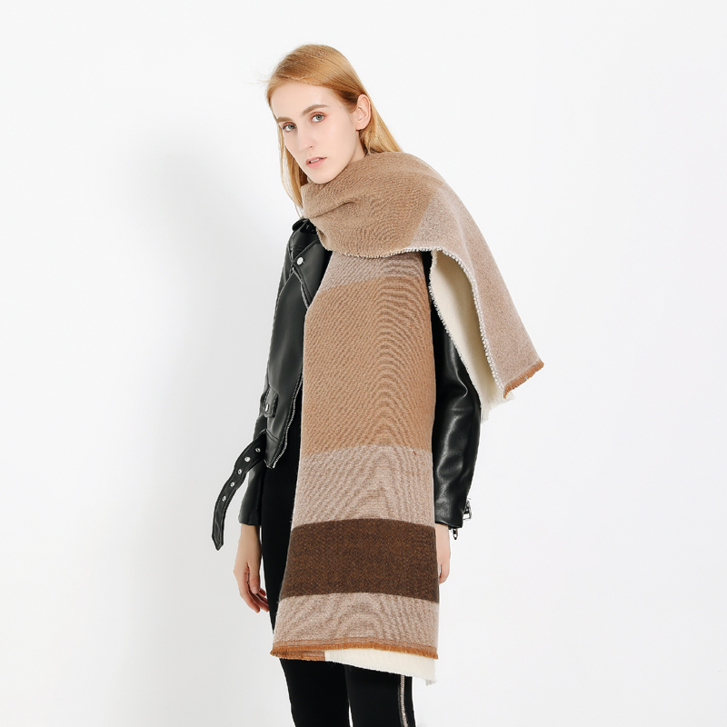 Abay 2018 new fahsion cashmere striped plaid women scarf warm softer shawl gitf
