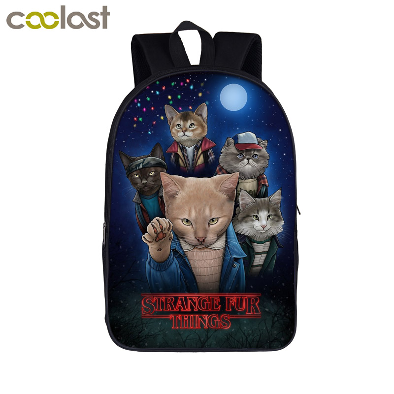 Funny Stranger Cat Things / Potter Cats Backpack For Teenager Girls Boys Children School Bags Kids School Backpack Book Bag Gift