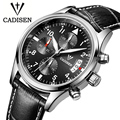 Cadisen Auto Date Watch Men Water Resistant Stainless Steel Men Watch Fashion Dress Business Design Leather Winner Quartz-Watch