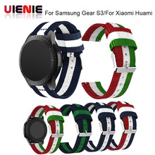 2018 Watch Strap Fine Woven Nylon Adjustable Replacement Band Sport Strap for Samsung Gear S3/For Xiaomi Huami  Watchbands