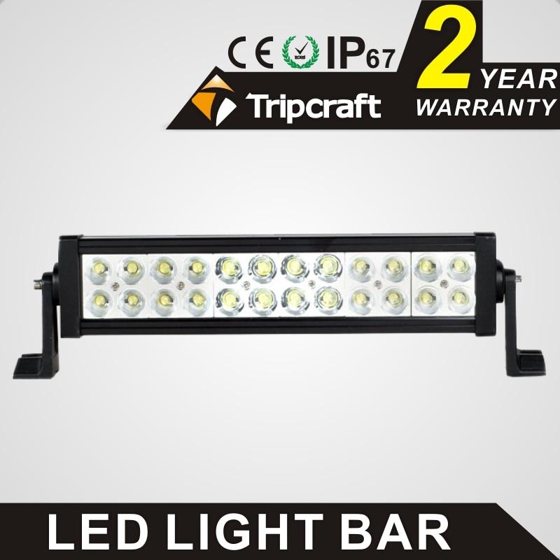 TRIPCRAFT 72w led work light bar high power spot flood combo beam offroad Truck Trailer 4x4 4WD SUV ATV Off Road spot work lamp