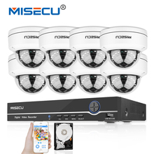 MISECU 8CH 1080P 48V PoE P2P HDMI 8pc 2.0MP IR Vandalproof PoE Metal IP Camera Outdoor Onvif CCTV Security System PC&Mobile View