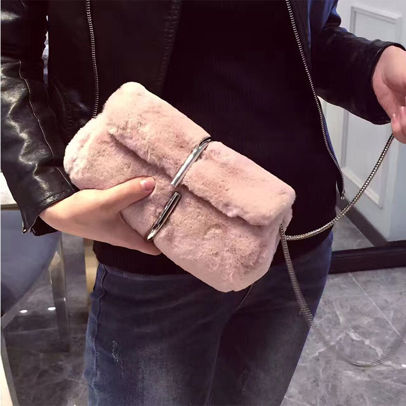 2017 new autumn and winter fashion maomao clutch evening bag mini chain handbags shoulder messenger bag small square package купить