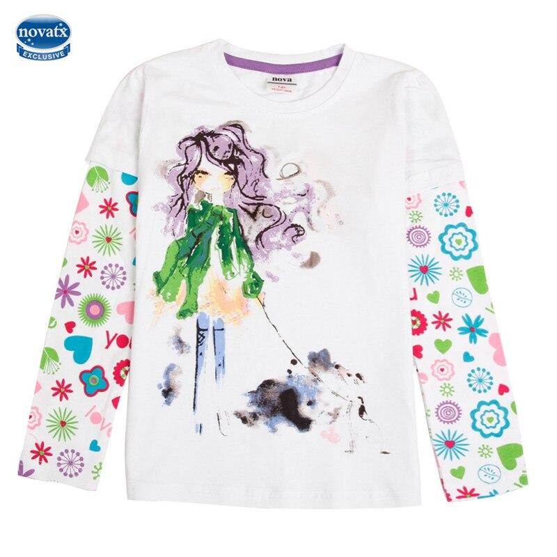 8924e84c373f Girls tees long sleeve baby garment spring beaded printed nova kids clothing  t shirts designs hot selling girls tops novatx - Best Kids Clothing Stores  ...