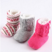 Baby First Walkers Warm Winter Boots for Kids Cute Soft Bottom Baby