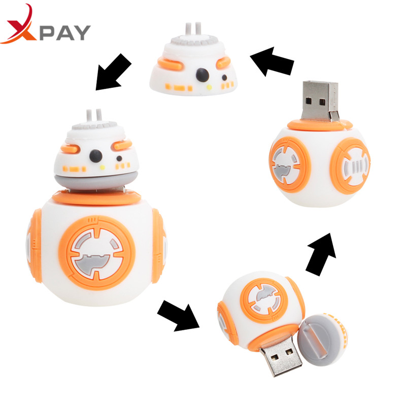 Image 2 - Wholesale Cartoon Star wars pendrive usb flash drive 32gb 2.0 pen drive 4GB 8GB 16GB flash memory Silicone 64GB 128GB Free Logo-in USB Flash Drives from Computer & Office