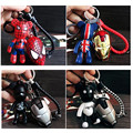 Fantasy Super Hero Keychain Cartoon Cute Bear Keychain Multi style Cos Batman Spider Man Captain America Luffy Key Ring Pendant