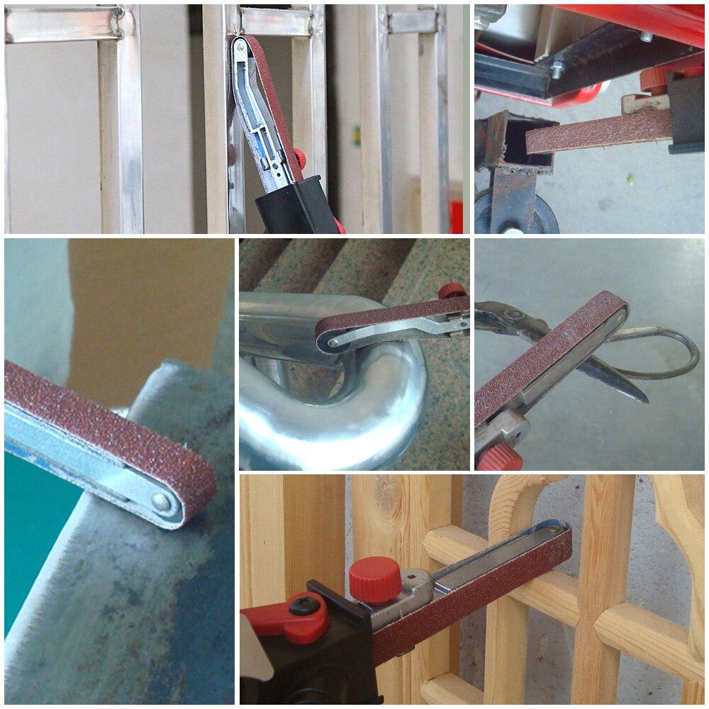 "Image 5 - Angle Grinder Mini DIY Sander Sanding Belt Adapter Grinding Machine Bandfile Belt Head Sander for 115mm 4.5"" and 125mm 5""-in Grinders from Tools"