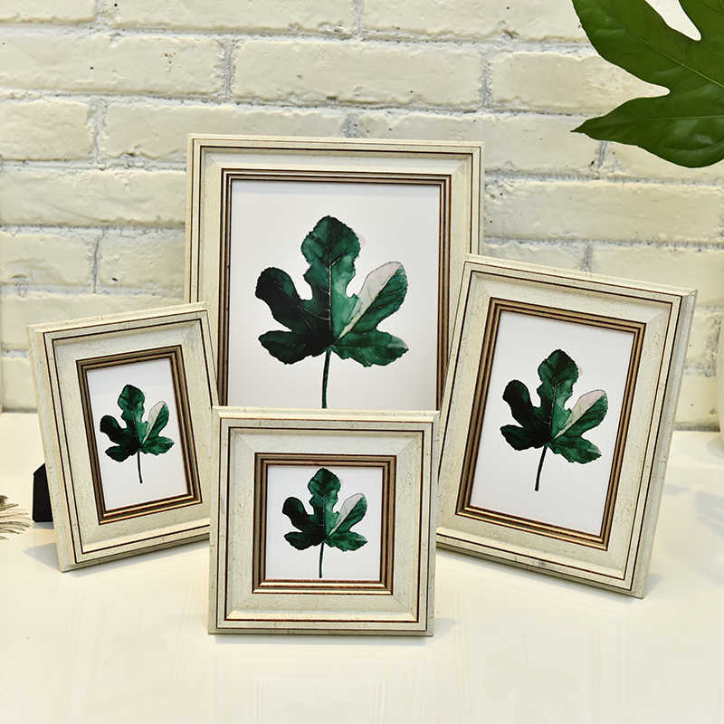 Nordic bilateral white Picture Frames, Photo Frames,4/5/6/7/10 inch Frames, Picture Frame Home Decoratio Crafts