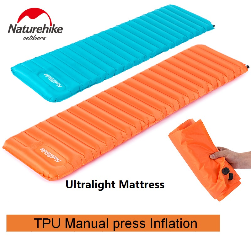 Naturehike Factory Store 570G Manually Inflatable Cushion Camping Mat Tent Air <font><b>Mattress</b></font> Outdoor Moisture-proof Pad