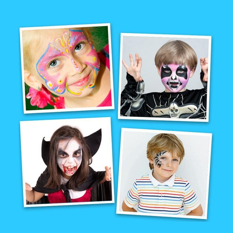 Novelty Toys Face Painting Crayon Skit 16 Colors Children Safe Face Body Paint Crayons Pencils Kit Set Makeup Cosplay Halloween