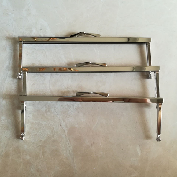 Metal purse frames, Rectangular 8 x 2.5 Antique Brass FH08M-AB 5 pcs Fashion DIY Handbag Accessories Metal Purse Frame Handle