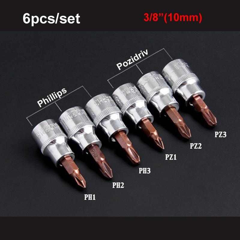 6x Standard Screwdriver Bits Pozi PZ 3