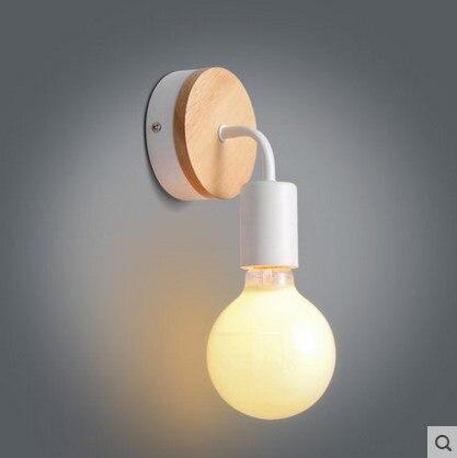 ddaef48211e Madera nórdica Moderna LLEVÓ Las Lámparas de Pared Aplique de Lámparas para  el Dormitorio En Casa