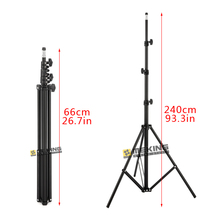 Wholesale Meking 260cm 93.3in Light Stand MD-2400 tripod for lighting support system photographic steadycam steadicam