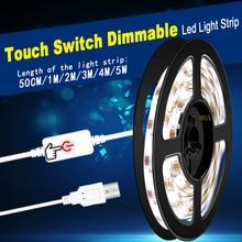 5V USB Led Strip Light Bathroom Kitchen Waterproof Cocina Tiras Wardrobe Lighting 2835 SMD Bedroom Night Lamp Tape