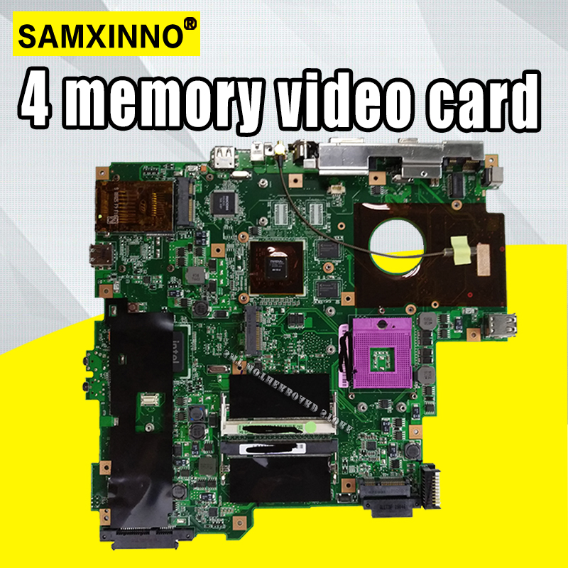 Laptop Motherboard  For ASUS F3S F3SC F3SV F3SG F3SC X52S Mainboard Test 100% OK  4*Memory