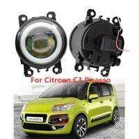 2PCS LED Fog Lamps light New Car Accessories 90mm Angel eye For OPEL Agila B Signum Tigra Twntop Vectra C For Citroen C3 C4