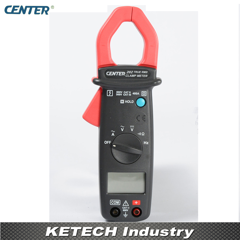 CENTER202 Pocket Size Mini AC/DC Clamp Table Meter Tester