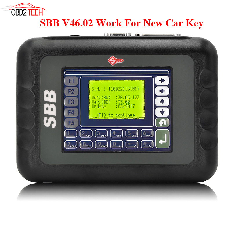 New Slica SBB Key Programmer V46.02 Work for New Car Key Multi-language Better than V33.02 By DHL Fast Shipping