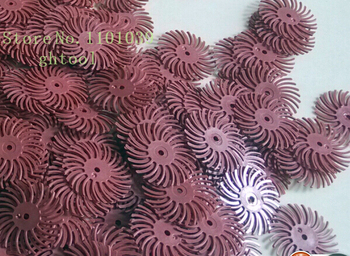 """Free Shipping Hot Sale Red Color Grit 220# 1"""" Jewelry 3M Bristle Brushes Radial Polishing Discs 300pcs/bag jewelery tools"""
