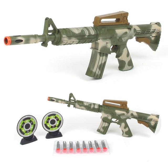 Camouflage Nerf airsoft.gun Airgun Soft Bullet Gun Paintball Pistol with  laser led light Toy