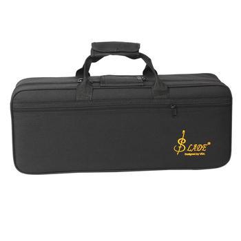 Trąbka torba Box plecak wodoodporny futerał do przenoszenia Oxford z regulowanym podwójnym paskiem na ramię akcesoria do instrumentów mosiężnych tanie i dobre opinie Other PEL09AP