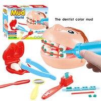 Детский пластилин плесень игрушки игра тесто моделирование из пластилина цвет набор инструментов для лепки из глины Pretent играть доктор сто...