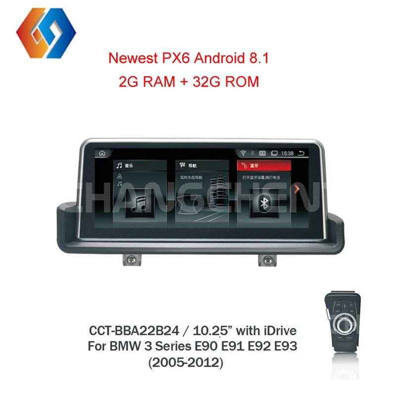 Px6 For BMW e90 Android 8.1 3 Series E91 E92 E93 with iDrive Car GPS Radio e90 Multimedia Built in Bluetooth TV WiFi DVR LHD24