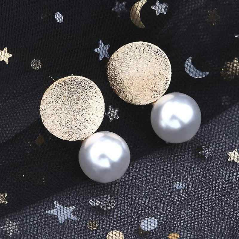 New Jewelry Creative Fashion Round Pearl Earrings Women's Birthday Gift Earrings Jewelry Wholesale Big Earings Women 2019