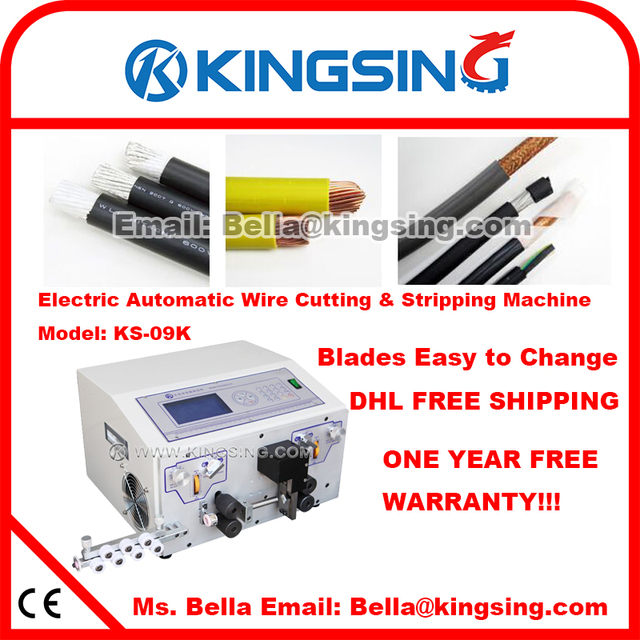 Automatic Teflon, PVC, Glass Wire Cutting Stripping Machine KS 09K ...