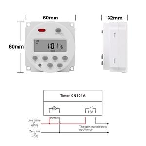 Image 2 - CN101A Economic Model Mini Timer Switch 12v LCD Digital 7 Days Programmable Timer Oven Timer Switch 16a Timer ac Week Timer