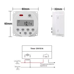 Image 2 - CN101A modèle économique Mini minuterie interrupteur 12v LCD numérique 7 jours Programmable minuterie four minuterie interrupteur 16a minuterie ca minuterie de semaine