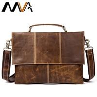 MVA Messenger Bag Men leather Genuine Leather Shoulder Bags male bag man men's 12 Laptop Crossbody Bags for Men Satchels 7909