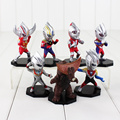 7pcs/lot Anime Ultraman Tiga Movie 8CM PVC Action Figure Toy Doll Collectible Model Dolls Gift For Kids