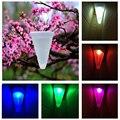 Светодиодный конусообразная лампа на солнечной батарее  красочная Подвесная лампа на солнечных батареях  уличный водонепроницаемый декор...