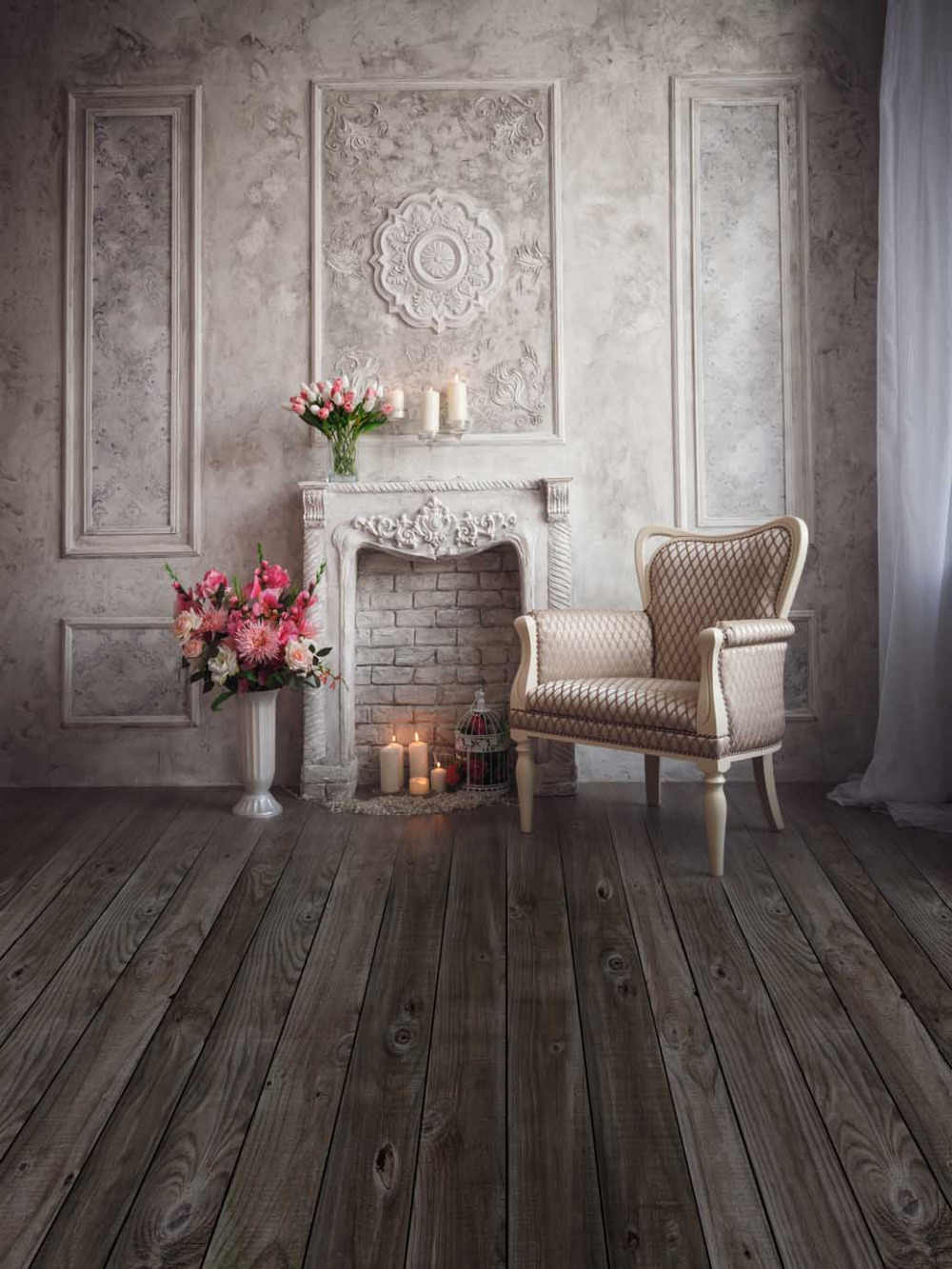 studio background backdrop fireplace custom chair wall candles vinyl pot flowers 360cm 240cm interior props marble days foto zoom aliexpress