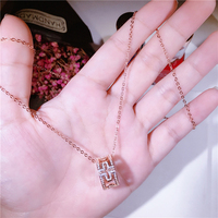 2018 Minimalistic S925 Sterling Silver Style Maze Necklace with Magnificent Clavicle Significant Clavicle Chain Feminine Jewelry