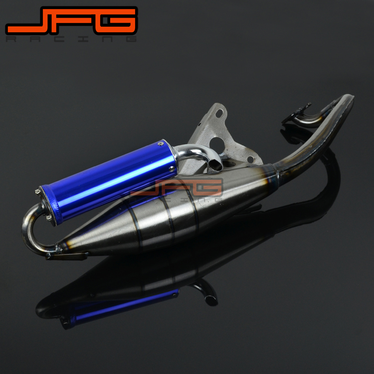Full Exhaust System Muffler Pipe Scooter Moped Racing Street Bike For KYMCO Fever ZX50 ZX 50 KCA SA10AL Motorcycle Motor bike цена