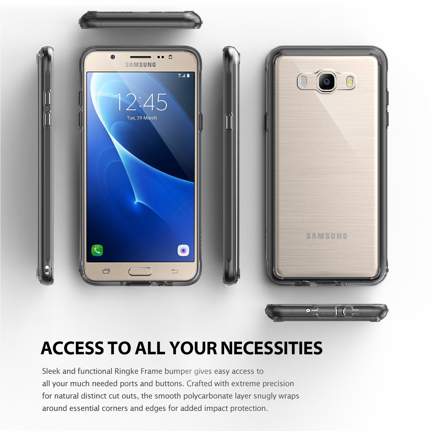 size 40 7d291 50c50 US $16.99 |Original Ringke Fusion Case for Samsung Galaxy J7 2016 (SM  J710F) Shock Absorption TPU Frame + Hard Back Panel Covers-in Fitted Cases  from ...