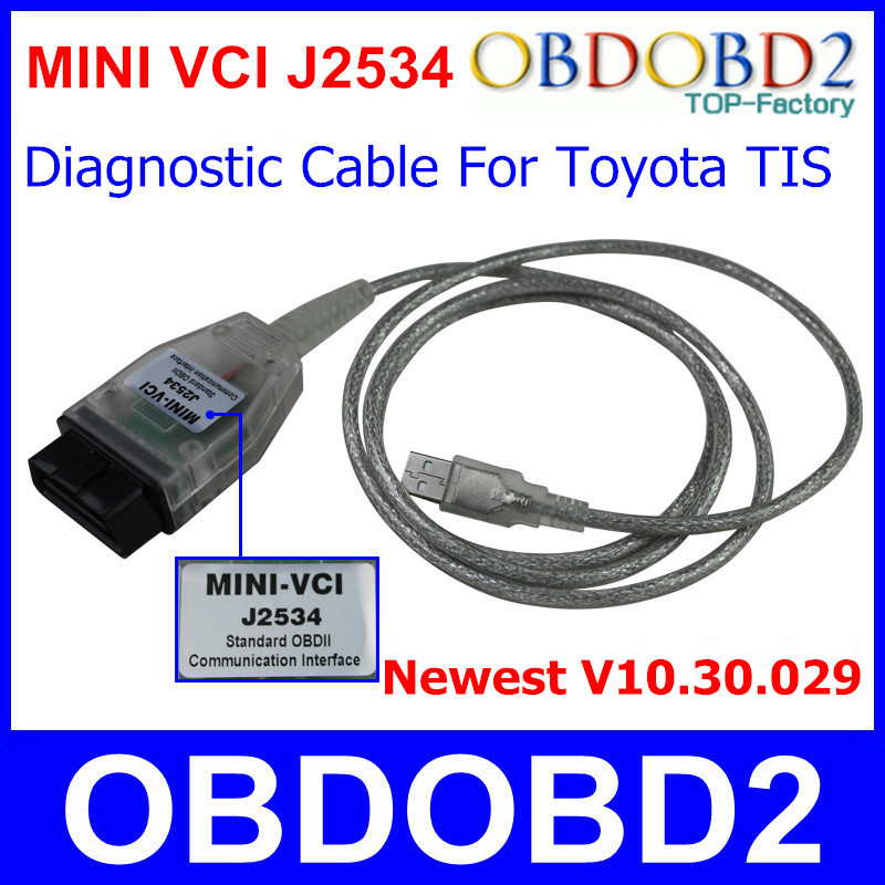 Newest V10 30 029 Mini VCI For TIS Techstream Standard OBD2 Communication Interface MINI VCI font
