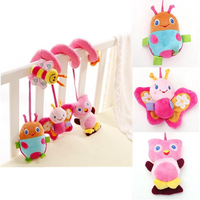 Baby Infant Bed Stroller Hanging Bell// Rattle Mobile Musical Plush Xmas Toy